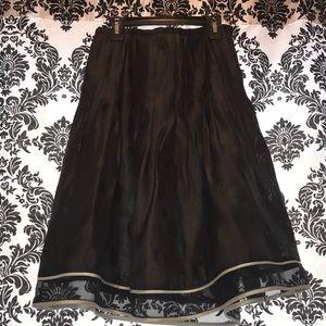 Korea Skirts - Black polka dot skirt size 8
